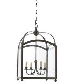 Visual Comfort CHC3422BZ E.F. Chapman Arch Top 4 Light 18 inch Bronze Foyer Pendant Ceiling Light #LightingNewYork