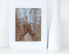 Soho  Original Art Painting IllustrationNew York City