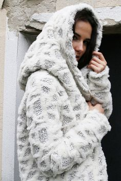 Hooded Coat/Extravagant  Coat/Zip Hooded Coat / by MIAatelier