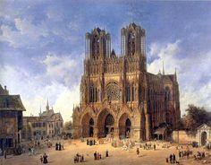 Domenico Quaglio (1787 - 1837), Die Kathedrale von Reims - Cathédrale Notre-Dame de Reims — Wikipédia