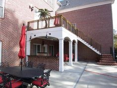 Having a deck is a wonderful way to enjoy the outdoors and your backyard but you could expand your outside living room with some hardscaping (add a courtyard and dining area) and the addition of an  underdeck  for larger social gatherings.