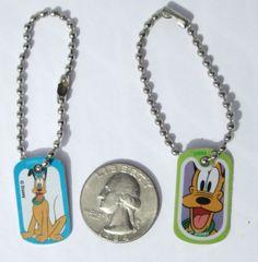 Disney-Fun-Pluto-Orange-Miniature-Dog-tag-Charm-Key-chain-Purse-Party-Favor-Gift