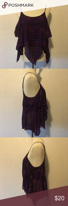 Free People Women's Purple Blue Tank Top Shirt S This women's Free People tank top is pre-loved in excellent condition!  Feel free to ask any questions or make an offer if interested! 💕 Free People Tops Tank Tops