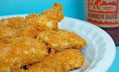 Cornflake Chicken Strips - Pennies On a Platter Printable Recipes Chicken Nugget Recipes, Chicken Tender Recipes, Baked Chicken, Crusted Chicken, Freezer Meals, Easy Meals, Easy Recipes, Freezer Chicken, Chicken Dippers