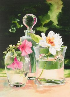 Delphine Poussot - Official website of watercolor artist, Delphine Poussot   Fine art, watercolor landscapes, watercolor still life, award winning watercolors.