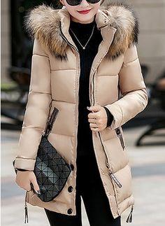 2da285d3a91 Joe Wenko Women s Hoodie Winter Outerwear Cotton-Padded Thick Parkas Coats  Khaki XXS Best Winter Coats for Women USA