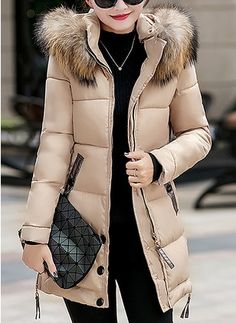 584e0e707135c Joe Wenko Women s Hoodie Winter Outerwear Cotton-Padded Thick Parkas Coats  Khaki XXS Best Winter Coats for Women USA