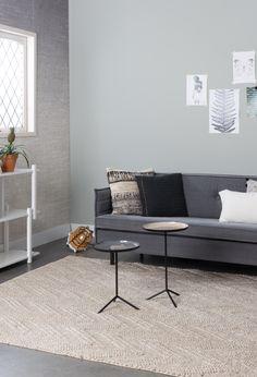 Zacht vloerkleed met een aardse tint van Zuiver. #carpet #livingroom