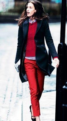 Vá de vermelho no inverno!
