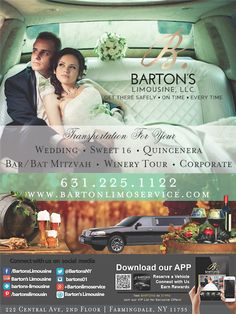 Have you seen our ad in the LI Bride to Be magazine yet? Check us out! #longisland #wedding #limo