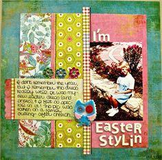 I'm Easter Stylin - Scrapbook.com Basic Grey Lemonade  layout