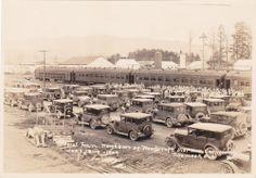 "Original photo ""Special Train Neighbors of Woodcraft Convention"", Tillamook, OR"