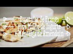 ▶ RECEITA DE ESPETADAS DE FRANGO COM MOLHO DE IOGURTE GREGO - SABOREIA A VIDA - YouTube