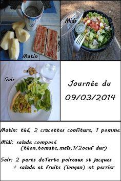 Mon menu du 09/03/2014