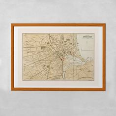 VINTAGE ABERDEEN MAP Historical Map Office by EncorePrintSociety