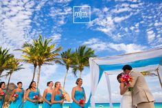 Mexico Wedding Bridal Party at this gorgeous Iberostar Quetzal Tucan Wedding ~ It was THE. BEST. day for a perfect Beach Wedding Celebration! We Loved capturing those magical moments that matter they'll cherish for years to come :) We Love recording LOVE  ~ and we're loving this album!!!  Click on the photo and visit us today for your Free Wedding Planner to make your dreams come true!  Cheers!!! team MTM :)