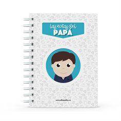 Cuaderno - Las notas del papá, encuentra este producto en nuestra tienda online y personalízalo con un nombre. Notebook, Dietitian, Notebooks, Report Cards, Training, Store, Brother, The Notebook, Exercise Book