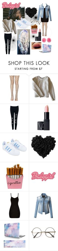 """Idek bout life"" by kayleeluger on Polyvore featuring Leg Avenue, Anine Bing, WithChic, NARS Cosmetics, adidas, Cody Foster & Co., cutekawaii, LE3NO and Wild & Woolly"