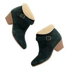 Sensible heel for winter weather, great color, and fuzzy inside! Sessùn™ Eska Sherpa Ankle Boots