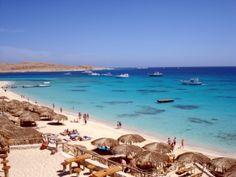 Beach in Hurghada, Egypt #Hurghada #Africa http://reversehomesickness.com