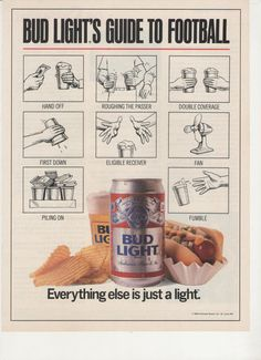 1989 Bud Light Guide to Football Advertisement NFL door fromjanet