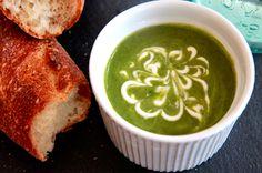 Zucchini-Almond Soup with Yogurt