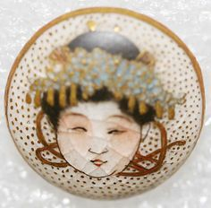 1850s Japanese satsuma button.