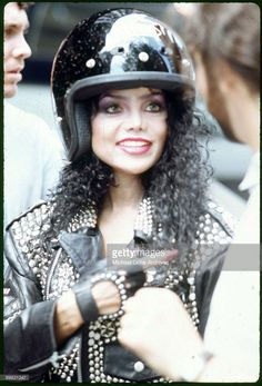 American singer La Toya Jackson films the video for her single 'You're Gonna Get Rocked!', 1988.