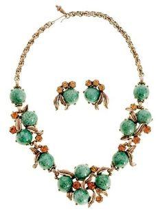 Schiaparelli Jewelry   Vintage Signed Jewelry Schiaparelli Necklace & ...   Vintage Costume ...