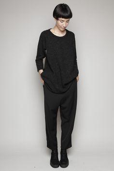 Totokaelo - Y's by Yohji Yamamoto - Wool Sarouel Pants - Black