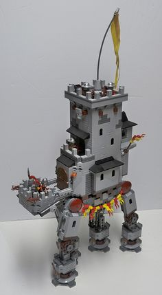 Ye Olde AT-AT  Star Wars Castle on the Move?  Wow, what an unusual build - and very, very cool