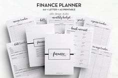 Finance Planner, Budget Planner, Expense Tracker, Income Tracker, Monthly Budget, Money Plan, Debt, Savings, Finance Binder, A5, A4, Letter