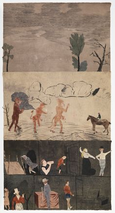 Jockum Nordström: For the insects and the hounds; Hour of the wolf, David Zwirner, New York/London Painting Collage, Painting & Drawing, Illustrations, Book Illustration, Figurative Kunst, Art Populaire, Art Archive, Art Plastique, Contemporary Paintings