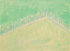 Trees on Hillside by MILTON AVERY