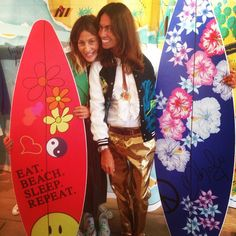 """""""Heeeeeey there's a surf spot in Paris @miramikati place! Looooove her surfer mood!!! Really nice to meet you!!! """""""