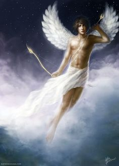 Eros (Greek) - Title: God of Attraction. Home: Mount Olympus. He is immortal. Symbol: Bows, Arrows and Hearts. Parent: Chaos. Siblings: Harmonia, Anteros, Himeros, Phobos, Adrestia and Deimos. Consort: Psyche. Child: Hedone