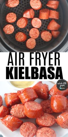 Air Fryer Recipes Low Carb, Air Fryer Dinner Recipes, Farberware Air Fryer, Polish Sausage Recipes, Cooks Air Fryer, Air Fryer Cooking Times, Kielbasa Sausage, Small Air Fryer, Sausages