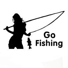 Wholesale 10pcs/lot 20pcs/lot Angler Go Fishing Car Boat Sticker Funny Joke Hot Cool Styling Vinyl Decal White Authentic