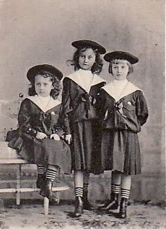 Princess Hilda, Princess Marie Adelaide, and Princess Charlotte. Daughters of Grand Duke Wilhelm of Luxembourg