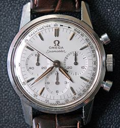 Vintage Omega Seamaster Chronograph (ref 105.001) with cal. 321 movement based on Lemania cal. 2310