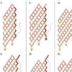 Collar abalorios patrón/Tutorial de escalera  descarga