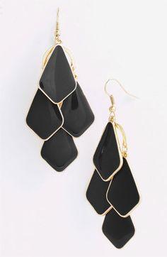 Carole Enameled Chandelier Earrings | Nordstrom