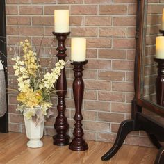Hartford Wooden Stand with Flameless Candle