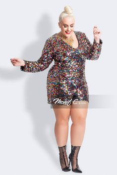 27 Plus Size Sequin Dresses {with Sleeves} - Plus Size New Year's Dresses - Plus Size Fashion for Women Sequin Dress With Sleeves, Plus Size Sequin Dresses, Plus Size Romper, Dresses With Sleeves, Plus Size Sequin Jumpsuit, New Years Outfit, New Years Dress, New Years Eve Outfits, Plus Size Fashion For Women