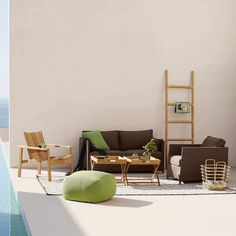 Climb Ladder by Cane-Line Whether used for practical purposes or merely for decorative purposes, the Climb Ladder will do no less than to elevate a space with its simple form. Wooden Outdoor Furniture, Decor, Furniture, Rattan, Willow House, Home Decor, Modern Spaces, Furniture For You, Lounge