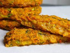 gebackene zucchini puffer