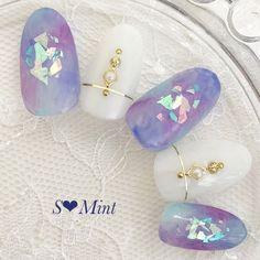 Pretty Nail Art, Cute Nail Art, Cute Acrylic Nails, Pastel Nails, Japanese Nail Design, Japanese Nails, Japan Nail Art, Luv Nails, Bling Nails