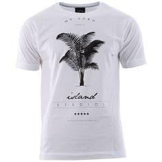 My Yard The Palm T-Shirt - White at Urban Industry