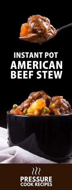 Classic American Instant Pot Beef Stew Recipe: Make this soul-satisfying beef stew. Tender & moist pressure cooker chuck roast immersed in a rich, hearty, umami sauce.