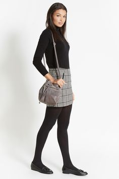 Mini Checked Skirt, Polo, and Opaques
